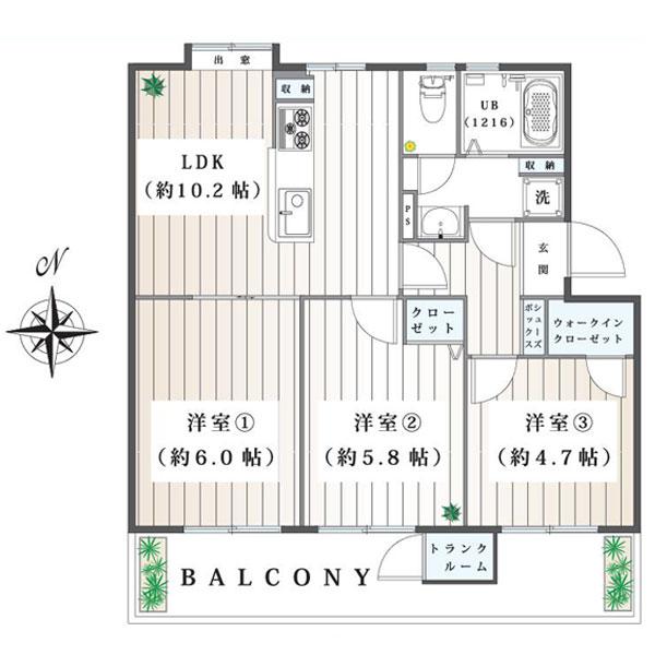 湘南西部住宅2-27号棟の間取り図